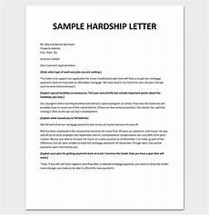 Sample Of Hardship Letter Hardship Letter Template 10 For Word Pdf Format