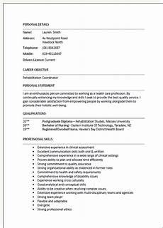 Cv Template Nz Cv Template New Zealand Free Resume Template Seek