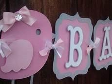 Baby Shower Banner Bird Baby Shower Banner Pink And Gray
