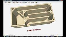 Ram Designs Ram Designs T Line Box Design For True Bass 8 Quot Subwoofer