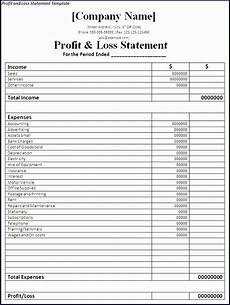 Profit And Loss Report Template 10 Restaurant Income Statement Template Excel