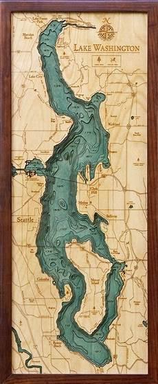 Sooner Lake Depth Chart Woodchart 3d Lake Washington Nautical Wood Map Depth Chart