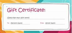 Movie Gift Certificate Template Free Photoshop Gift Certificate Template