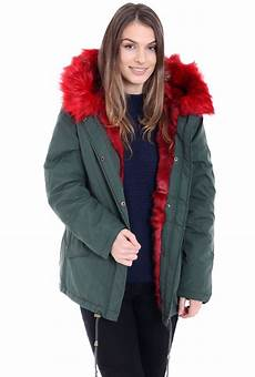 warm fur coats for womens faux fur lined khaki winter parka jacket