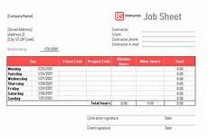 Job Sheet Template Free Job Sheet 10 Free Templates Format Samples Examples For