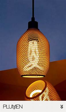 3d Light Shade Hive A Recycled 3d Printed Light Shade Cool Lighting