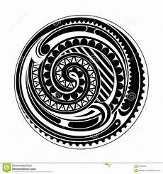 Polynesian Design Circle Maori Circle Stock Vector Illustration Of Vector