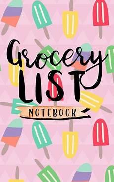 Grocery List Book Grocery List Notebook Grocery List Book Planner Blank