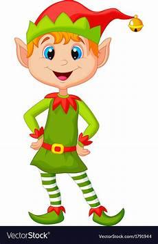 Design An Elf Google Cute And Happy Looking Christmas Elf Cartoon Vector Image