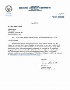 End Of Letter Closings Closing Letter From The Securities And Exchange Commission