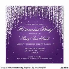 Elegant Party Invites Elegant Retirement Party Night Dazzle Purple Invitation
