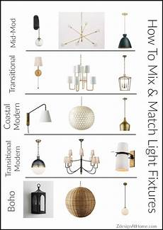 Coordinating Lighting 3 Simple Tips For Mixing Amp Matching Light Fixtures