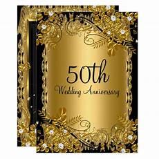 50th Anniversary Template 50th Anniversary Gold Black Diamond Floral Swirl