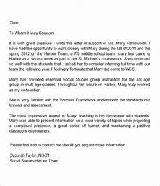 Letter Of Recommendation Teacher 13 Letters Of Recommendation For Teacher Sample