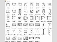 Bathroom Symbols in 2019   Floor plan symbols, Floor plan drawing, Bathroom interior design