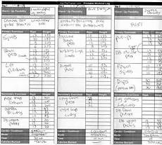 Fitness Log Example Free Exercise And Diet Logs Directlyfitness Com