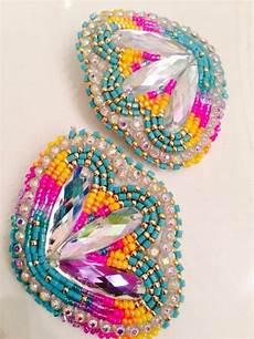 beadwork earrings beaded earrings blossom set