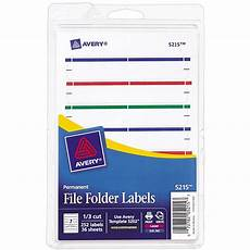 Template For File Labels Avery Print Or Write Assorted File Folder Labels