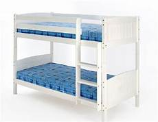 3ft single bunk bed white wash finish solid pine wood