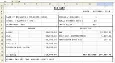 Salary Slip Format India Get Salary Slip Format In Excel Microsoft Excel