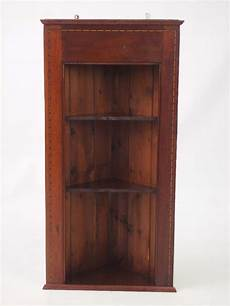 pair edwardian hanging corner cabinets shelf unit