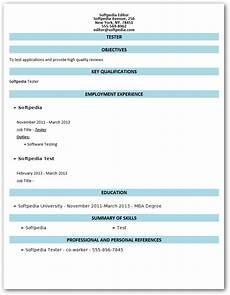 Windows Resume Builder Download Free Resume Builder 1 0