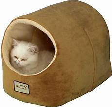 armarkat pet bed cave shape brown ivory chewy