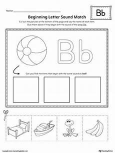 letter b beginning sound picture match worksheet letter