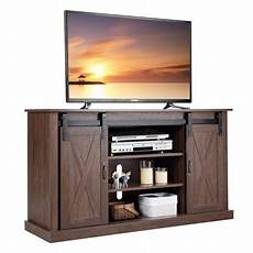 costway tv stand sliding barn door media center console