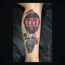 kranium tatovering airballon