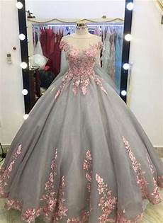 big sleeve dresses for unique grey gown appliqued cap sleeves prom