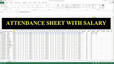 Attendance Sheet In Excel How To Make Attendance Sheet With Salary In Ms Excel 33