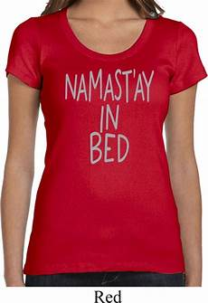 shirt namastay in bed scoop neck t shirt