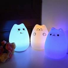 Cat Night Light Usb Rechargeable Touch Sensitive Cat Led Night Light With