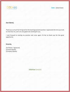 Thank For Job Offer Thank You Letter For Job Offer Download Free Samples