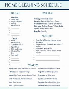 Daily Weekly Monthly Cleaning Home Cleaning Schedule With Love