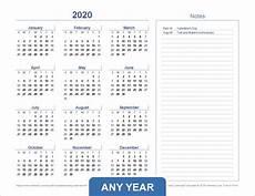 Download Yearly Calendar 2020 Year View Calendar Excel Ten Free Printable Calendar