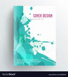 Book Covers Design Templates Book Cover Design Template With Abstract Splash Vector Image