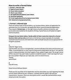 How To Format Formal Letter Free 7 Sample Official Letter Formats In Pdf Ms Word