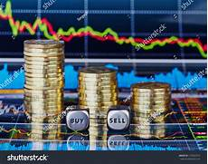 Naca Buy Down Chart Stacks Of Coins Dices Cubes With The Words Sell Buy And
