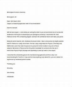 Write Letter Of Recommendation For Student Free 7 Sample Letter Of Recommendation For A Student In