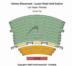 Luxor Hotel Theater Seating Chart Atrium Showroom Luxor Hotel Tickets And Atrium Showroom