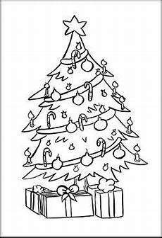 gratis malbild mit einem weihnachtsbaum ausmalbilder