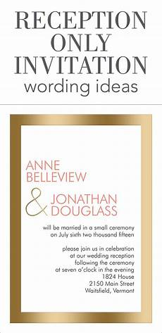 Invite To A Party Wording Reception Only Invitation Wording Reception Invitation