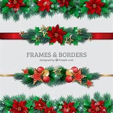 Christmas Card Borders Free Christmas Borders Set Free Vector