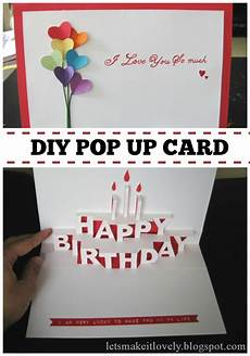 pop up card template let s make it lovely happy birthday pop up card