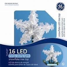 Ge Christmas Tree Light Repair Shop Ge 9 75 In Plastic Lighted Led Snowflake Christmas