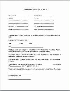 Auto Purchase And Sale Agreement Car Purchase Contract Template Tips Amp Guidelines Car