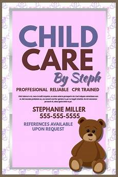 Babysitter Available Ads Child Care Template Postermywall