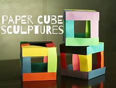 Paper Cube Paper Cube Sculptures Make And Takes